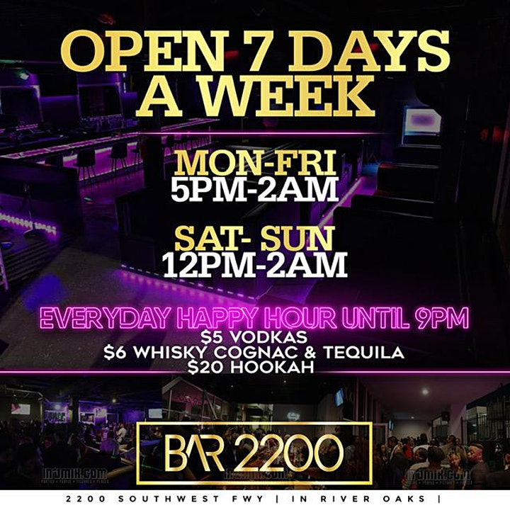 THURSDAY R&B VIBEZ @ BAR 2200 | PLAYING THE BEST OF R&B MUSIC | FREE ENTRY image
