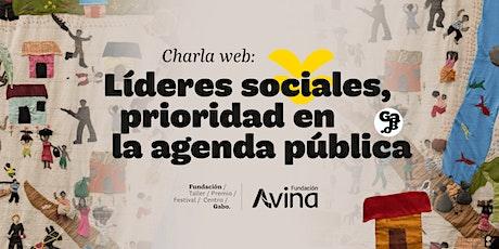 Charla web: Líderes sociales, prioridad en la agenda pública entradas