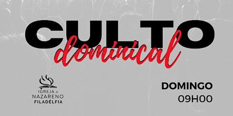 Culto dominical - 27/09 - [MANHÃ] ingressos