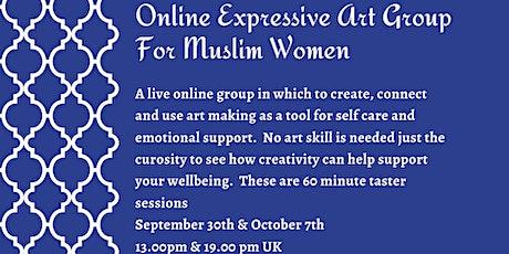Wellness At Home: Online Expressive Art Group - Muslim Women tickets