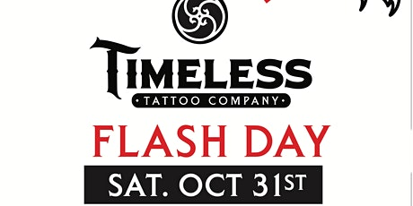 Halloween Flash Day Fundraiser at Timeless Tattoo Company tickets