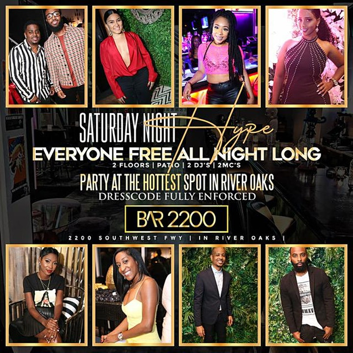 SATURDAYS @ BAR 2200 | BRUNCH | HOOKAH |HAPPY HOUR | FREE ENTRY |  12PM-2AM image