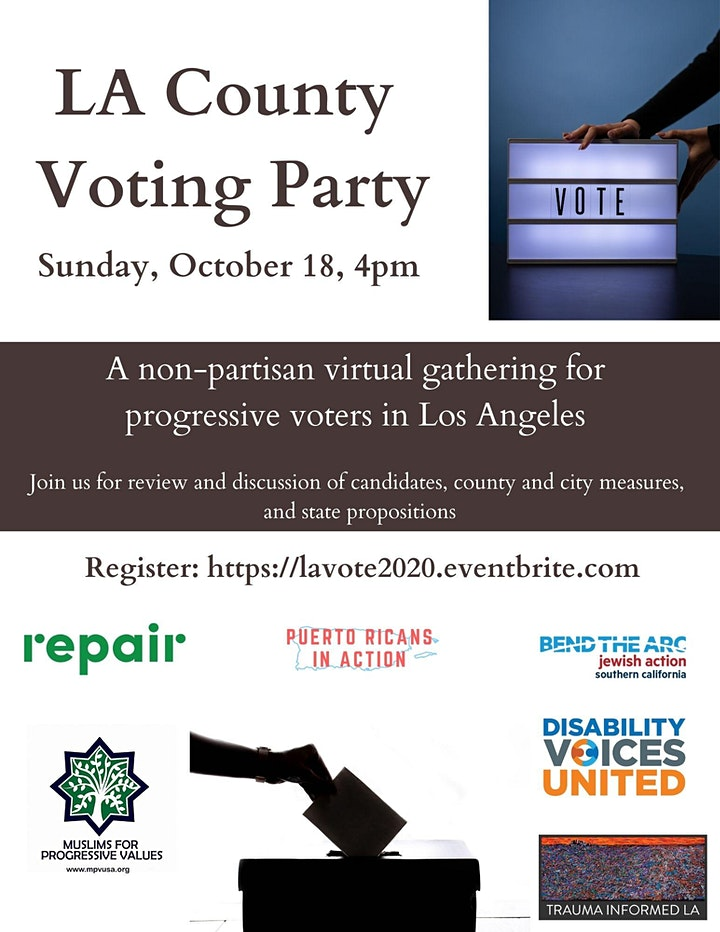 Los Angeles County Voting Party image