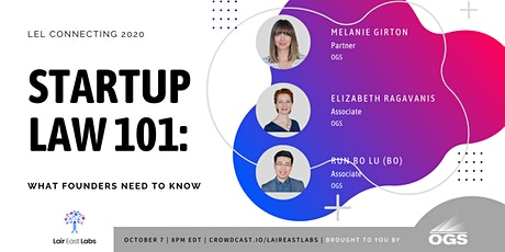Startup Law 101: What Founders Need to Know tickets