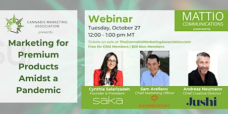 Marketing for Premium Products Amidst a Pandemic Webinar tickets