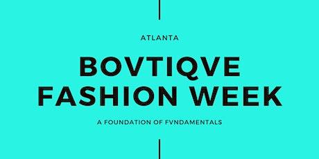 Bovtiqve Fashion Week Registration tickets