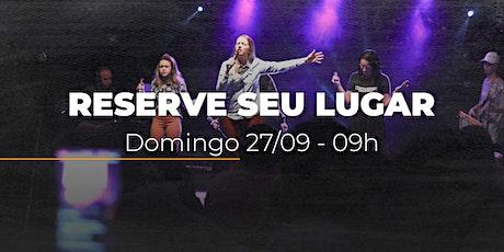 Culto de domingo | 27/09 - 09h ingressos