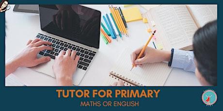 Tutor for Primary Maths or English entradas