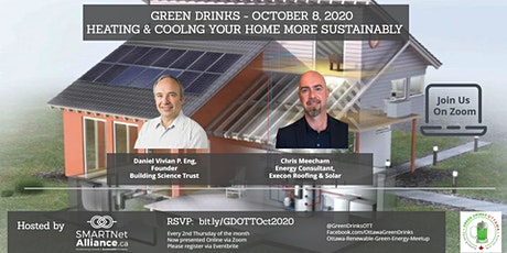 Green Drinks October - How to Heat and Cool Your Home More Sustainably tickets