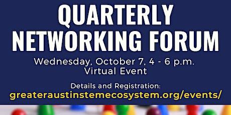 Greater Austin STEM Quarterly Networking Forum - October 7, 2020 tickets