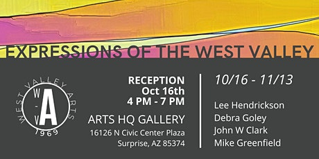 "Opening Reception: ""Expressions of the West Valley"" Exhibit - Oct.16, 2020 tickets"