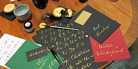 Improvers Christmas Coloured Inks Calligraphy Workshop tickets
