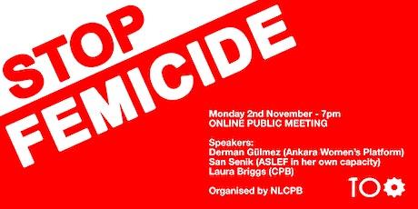 Stop Femicide tickets