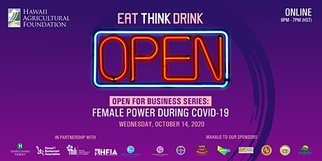 EAT THINK DRINK 12: Female Power During COVID-19 tickets