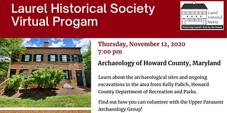 Archaeology of Howard County, Maryland tickets