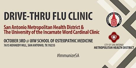 UIW and Metro Health Drive-Thru Flu Clinic. Evento de vacunación. tickets