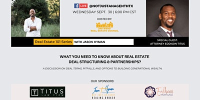 Real Estate 101 : Structuring real estate deals and partnerships