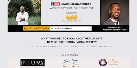 Real Estate 101 : Structuring real estate deals and partnerships tickets