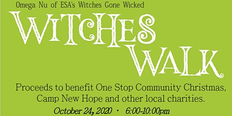 2020 Omega Nu Witches Gone Wicked Witches Walk tickets