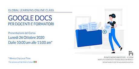 Google Docs 2020 per Docenti e Formatori biglietti