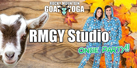 "Goat Yoga ""Onsie Party"" - October 17th (RMGY Studio) tickets"