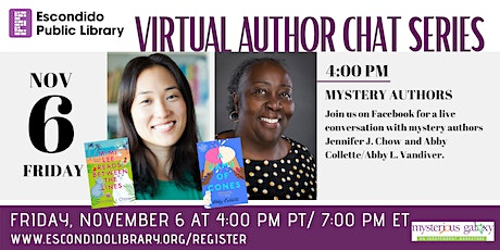 Virtual Author Chat Series: Mystery Authors tickets