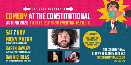Comedy at The Constitutional - Sat 7 Nov tickets