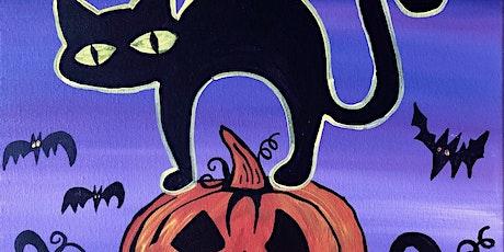 Virtual Painting  Halloween Cat tickets