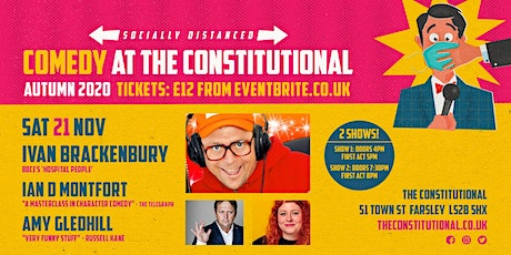 Comedy at The Constitutional - Sat 21 Nov tickets