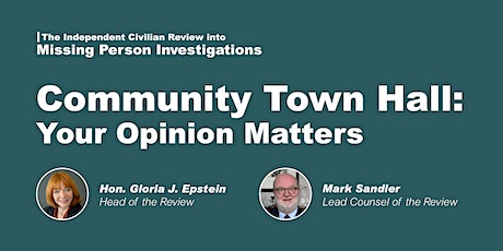 Missing Person Review | Community Town Hall tickets