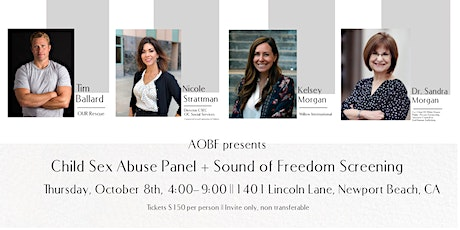 AOBF Panel on Child Sex Abuse + Screening of Tim Ballard's Sound of Freedom tickets