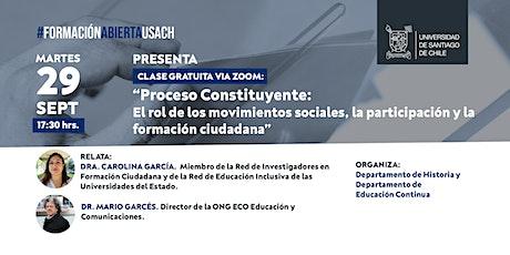 Proceso Constituyente: Movimientos Sociales y Formación Ciudadana entradas