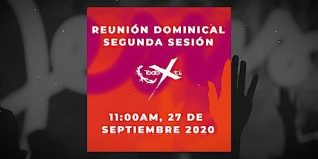 Reunión dominical 27 de septiembre de 2020 - Segunda sesión tickets
