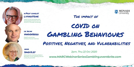 MARC webinar series:  The impact of COVID on gambling behaviours tickets