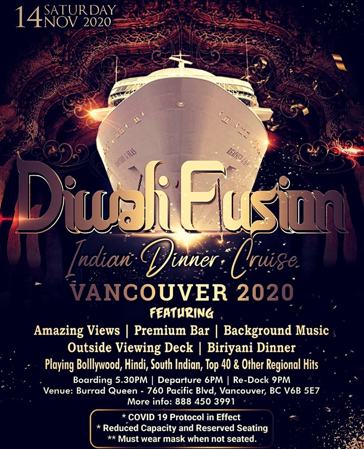 Diwali Indian Dinner Cruise Vancouver III 2020 (Cancelled) image