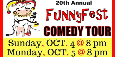 Oct. 4 and 5 - 20th Annual FunnyFest Comedy Tour @ Banff - Rose and Crown tickets