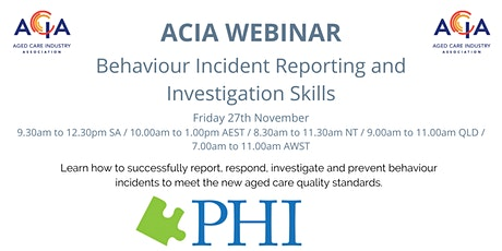 Behaviour Incident Reporting and Investigation Skills tickets