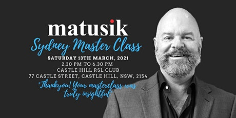 Matusik Sydney Master Class : Saturday 13th March 2021 tickets