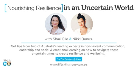 Nourishing Resilience in times of uncertainty tickets
