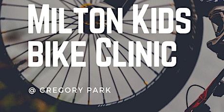Milton Kids Bike Clinic - Fun skills to be amazing on the bike! tickets