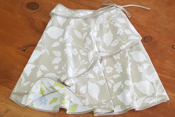 Grow Your Sew - Draft and Sew a Wrap Skirt image