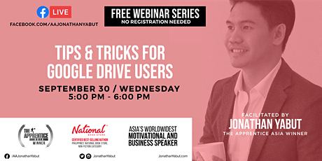 Free Webinar: Tips & Tricks for Google Drive Users (Sept 30) tickets