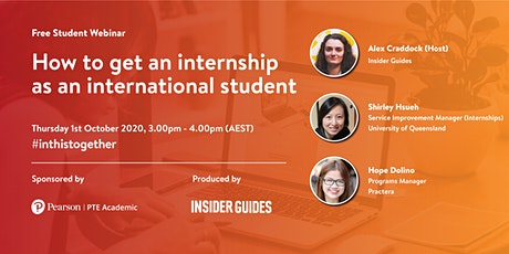 How to get an internship as an international student tickets