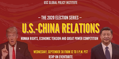 U.S.-China Relations: Human Rights, Economic Tension and Power Competition tickets