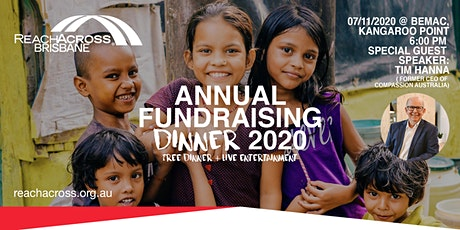 [SOLD OUT] ReachAcross Brisbane - Annual Fundraising Dinner 2020 tickets
