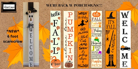 WE'RE BACK W/ PORCH SIGNS!! tickets