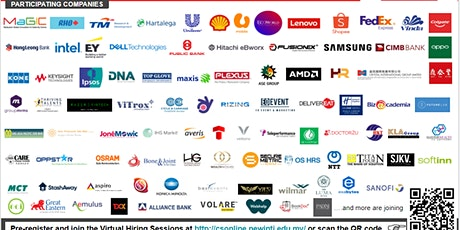 INTI Virtual Career Fair (1-7 October 2020) tickets