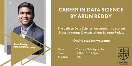 Career in Data Science with Arun Reddy tickets