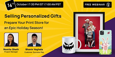 Selling Personalized Gifts: Prepare Your Print Store for an Epic Holiday Se tickets