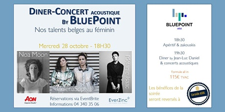 Dîner-Concert acoustique by BluePoint - Nos talents belges au féminin billets